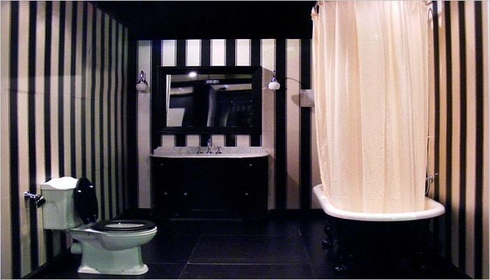 Moderne landelijke badkamer