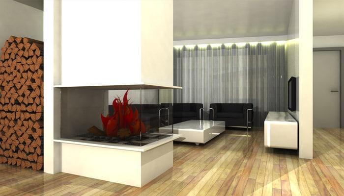 Moderne woonkamer foto 39 s en woonkamers ideeen for 3d inrichten