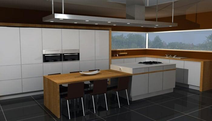 Moderne keukens voorbeelden   inspiratie foto's voor een moderne ...