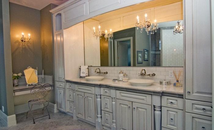 Klassieke badkamers voorbeelden en badkamer foto\'s in traditionele stijl