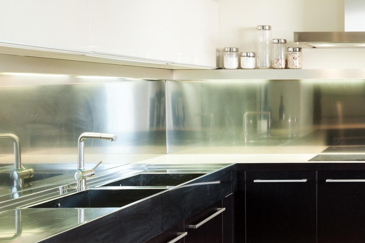 achterwand in de keuken met inox