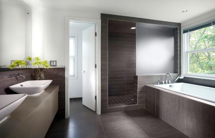 Badkamer half betegelen