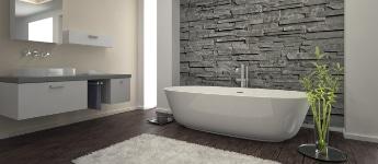 badkamerrenovatie met steenstrips