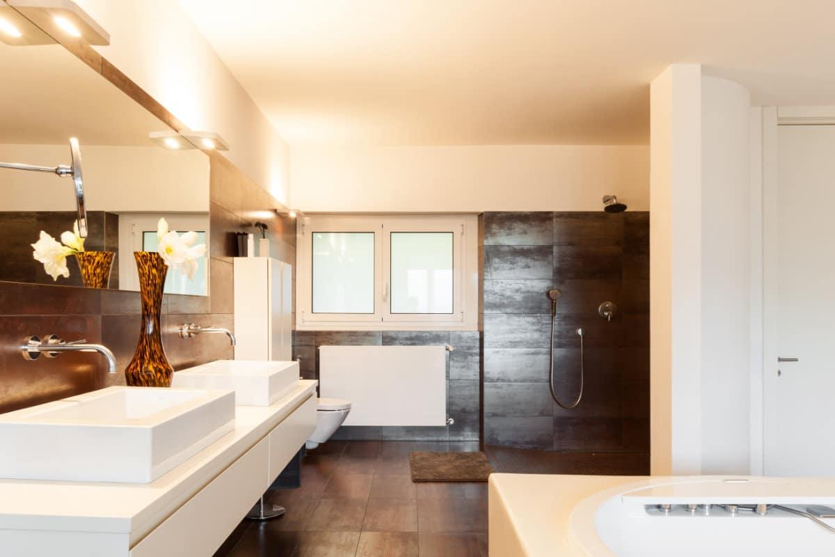 badkamervloer plaatsen mogelijke materialen interieurvoorbeelden