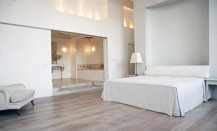 Slaapkamers hout slaapkamer met hout interieur inrichting slaapkamer hout - Grijze slaapkamer ...