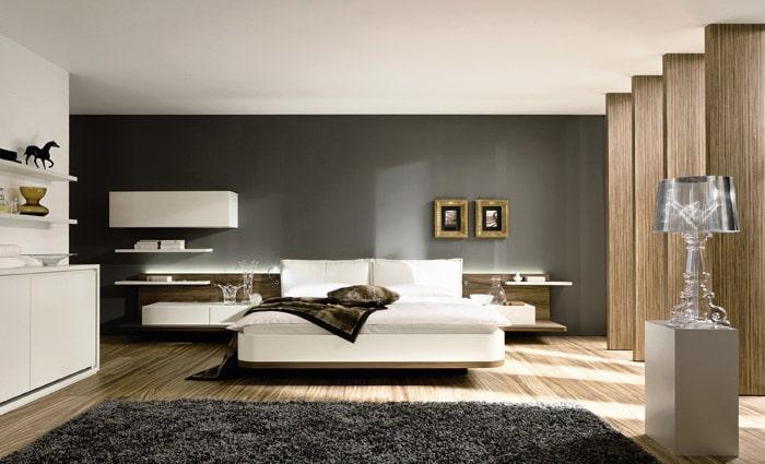 design slaapkamer met zwarte accentwand