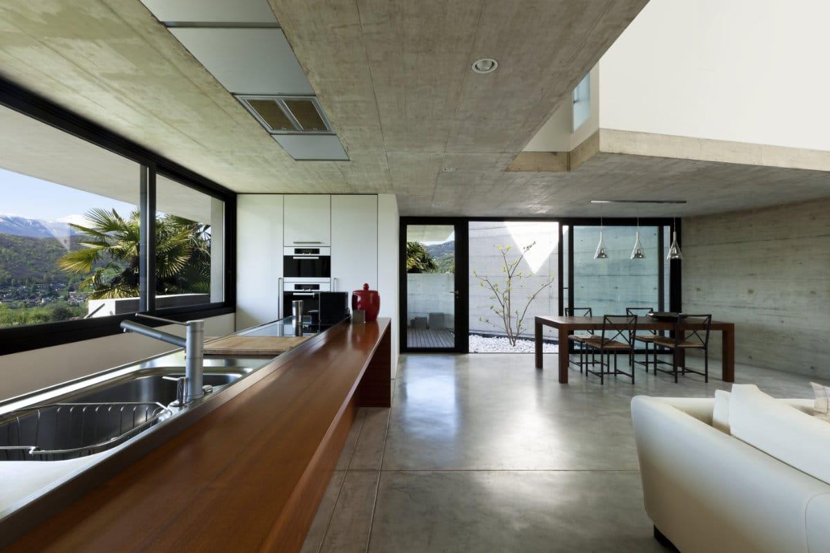 industriële keuken beton