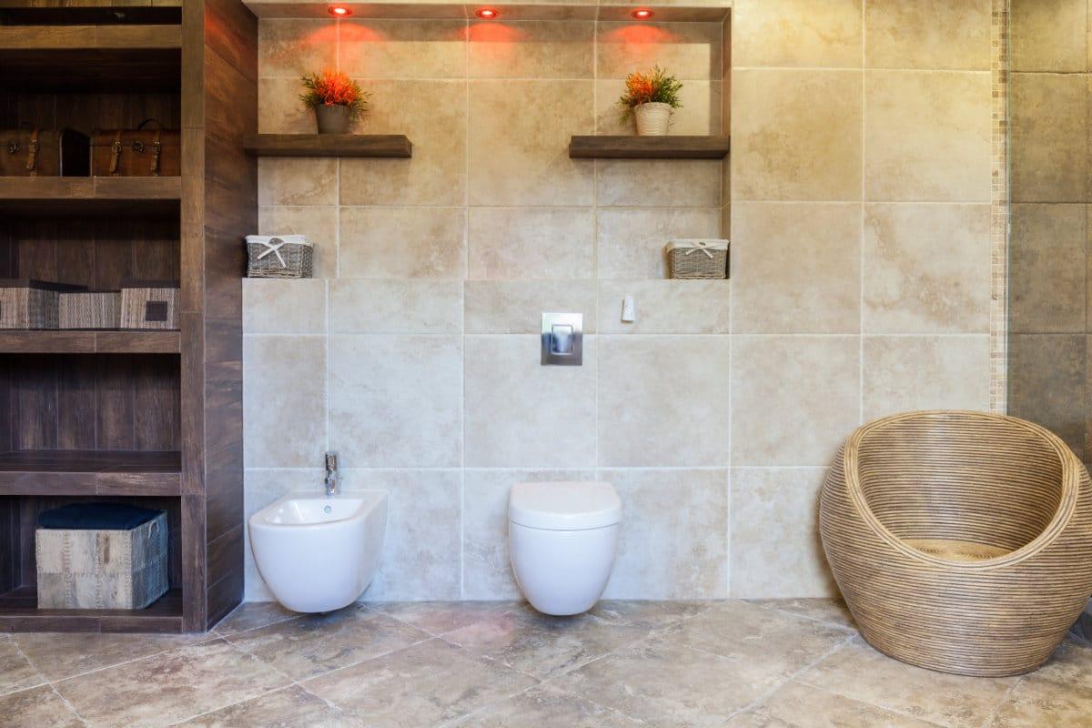 Keramische tegels badkamer