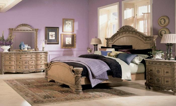 slaapkamer in pastelkleuren