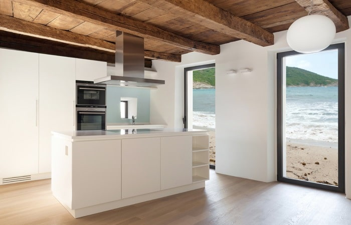 Indeling kookeiland woonkamer for Kleine keukens fotos