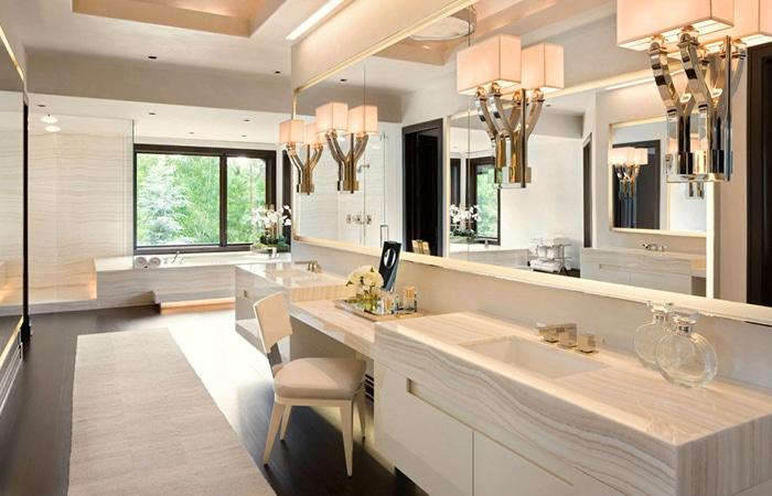 Luxe badkamers voorbeelden inspiratie - Luxe marmer ...
