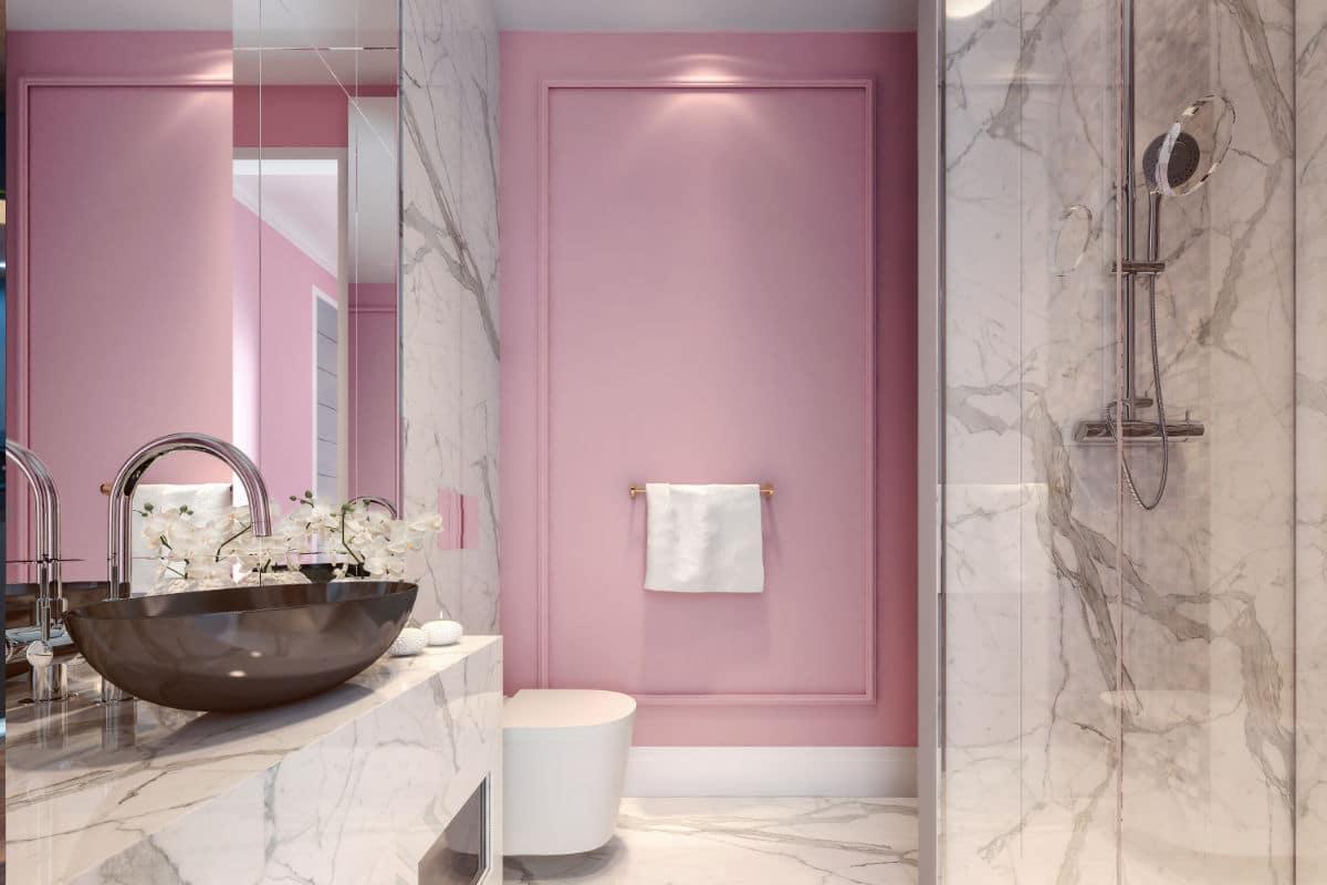 Luxe badkamer roze