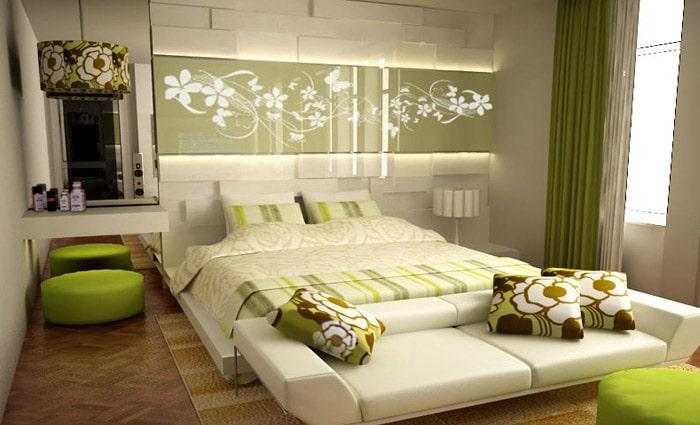moderne kleine slaapkamer groter doen lijken