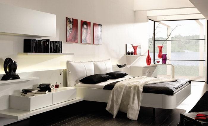 zwart wit slaapkamer inrichting