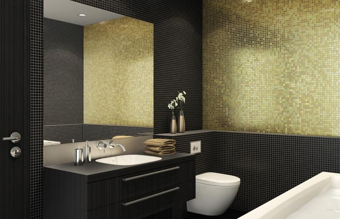 Tegels badkamer inspiratie voorbeelden badkamertegels toepassen - Mozaiek douche ...