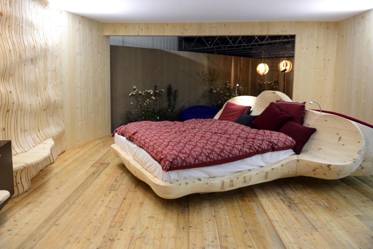origineel bed in hout