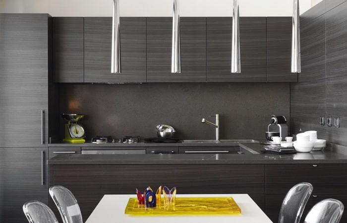 Zwarte keuken foto 39 s voorbeelden en inspiratie tips - Zwarte houten keuken ...